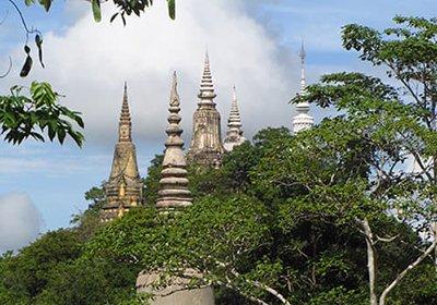 Phnom Oudong  old royal palace